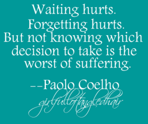 quote, paolo coelho, and hurt image