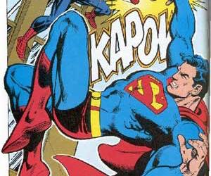 comics, supermen, and spidermen image