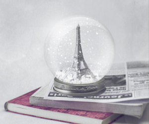eiffel tower, newspaper, and paris image