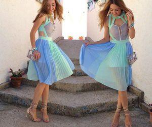 dress, fashion, and high heels image