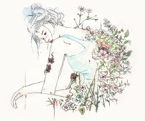 flowers, illustration, and javier peralta image