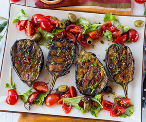 healthy recipes and grilled eggplants image