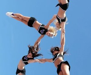 cheer, cheerleader, and girl image
