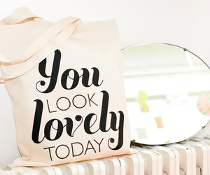 lovely, bag, and mirror image