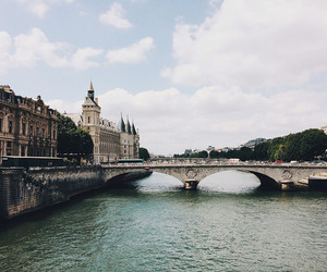 bridge, city, and landscape image