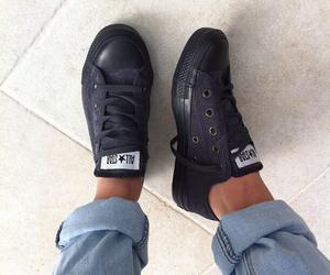 converse, fashion, and black image