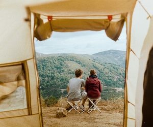 couple, travel, and nature image