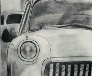 art, car, and drawing image