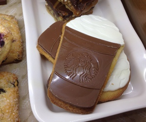 food, starbucks, and Cookies image