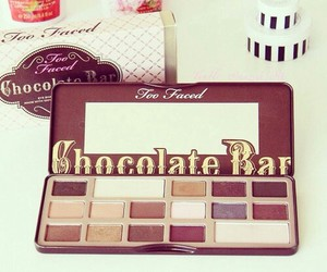 makeup, chocolate, and too faced image