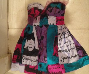 dress and justin bieber image