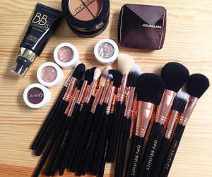 makeup, girl, and Brushes image