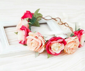 flowers, rose, and girly image