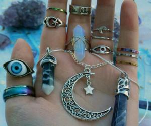 eye, fashion, and necklace image