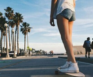 summer, skate, and beach image