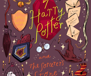 harry potter, hp, and book image