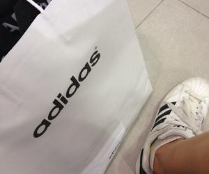 adidas, dark, and bag image