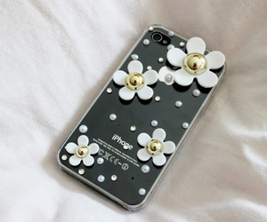 flowers, iphone, and cute image