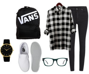 hipster, outfit, and vans image