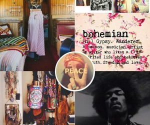 bohemian, collection, and hippies image