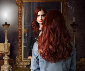 clary fray, lily collins, and the mortal instruments image
