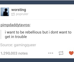 funny, rebel, and trouble image