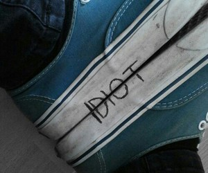 idiot, vans, and blue image