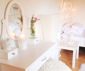 white, room, and girly image