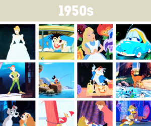 alice in wonderland, cinderella, and lady and the tramp image