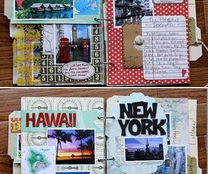 journal, travel, and diy image