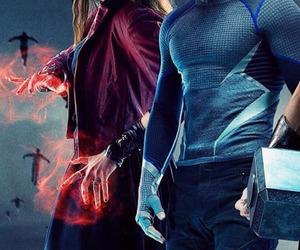 elizabeth olsen, quicksilver, and the avengers image