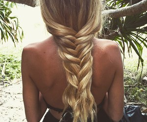 bikini, hairstyle, and outdoors image