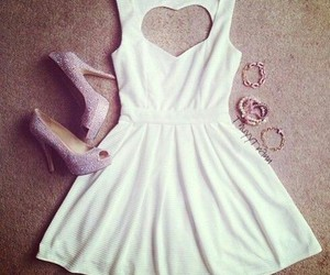 clothes, dress, and heart image