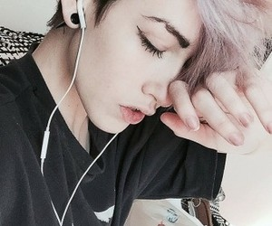 GRL, music, and pale image