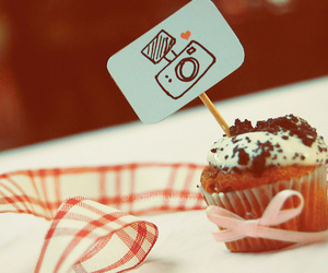 cupcake, camera, and sweet image