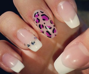 art, nails, and leopardprint image