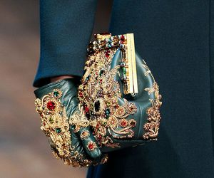 gloves, clutch, and trend image
