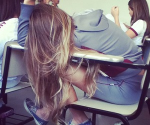 girl, hair, and school image
