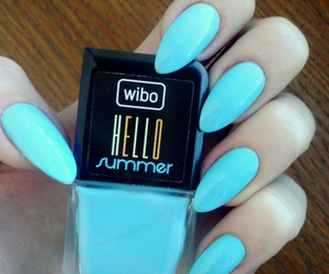 blue, nails, and summer image