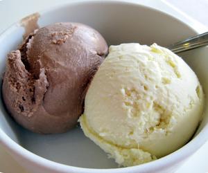 chocolate, ice cream, and vanilla image