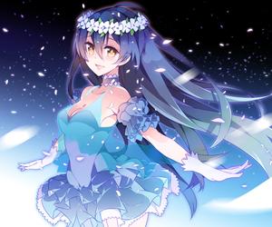 anime, blue, and girl image