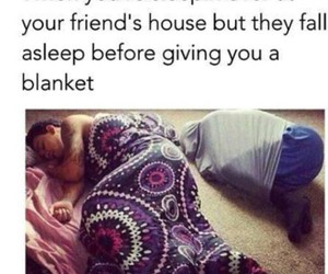 funny, friends, and sleep image