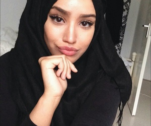 girl, hijab, and allah image