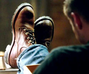 dean winchester, shoes, and supernatural image