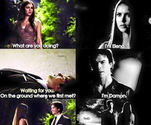 damon, elena, and tvd image