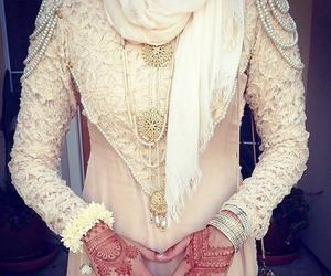 henna, hijab, and muslim image