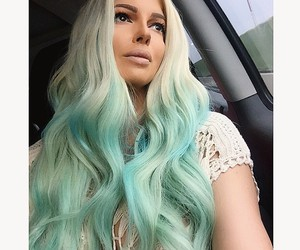 glam, ombre, and pastel hair image
