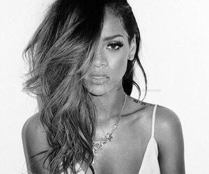 beautiful, black and white, and rihanna image