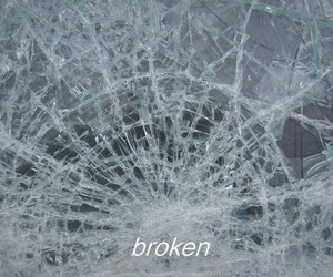 broken, glass, and quote image