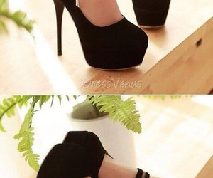 black, pumps, and shoes image